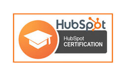 our digital marketing company employee with Hubspot certifications
